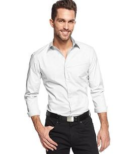 Vince Camuto  - Slim-Fit Long-Sleeve Button-Down Shirt