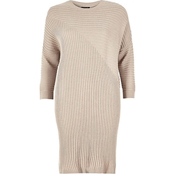 River Island - Ribbed Slouchy Longline Top