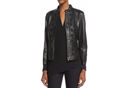 Escada - Laser-Cut Leather Jacket