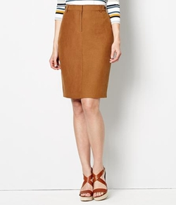 Austin Reed - Viyella - Petite Silk Linen Pencil Skirt