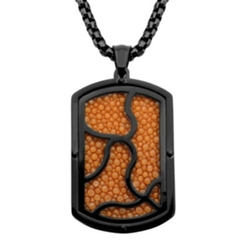 Inox - Leather Dog Tag Pendant Necklace