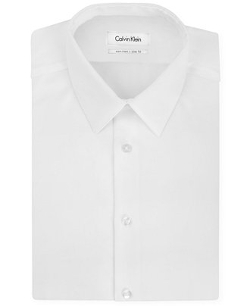 Calvin Klein - Steel Slim-Fit Non-Iron Textured Solid Dress Shirt