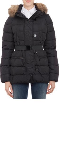 Moncler  - Fur-trimmed Hood Gene Puffer Jacket