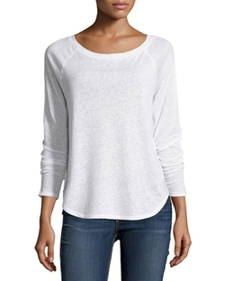 Solow - Boat-Neck Raglan Long-Sleeve Tee