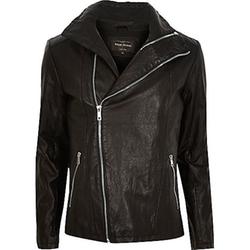 River Island - Leather-Look Biker Jacket