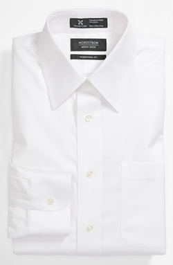 Nordstrom  - Smartcare Traditional Fit Herringbone Dress Shirt