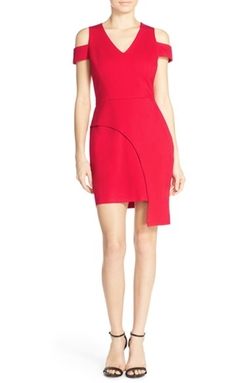 Adelyn Rae - Cold Shoulder Ponte Sheath Dress