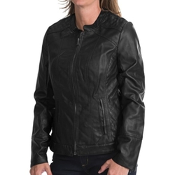 Kc Collections - Faux-Leather Jacket
