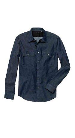 Theory - Barham C Shirt in Turini Cotton Blend