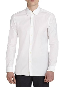 Z Zegna  - Solid Dress Shirt