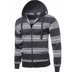 Style by William - Stripe Raglan Pullover Hoodie