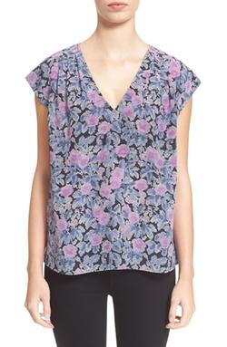 Joie - Faela Floral Print Silk Top