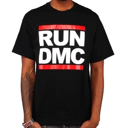 RockWaresUSA - Run DMC Original Big Logo Black T-Shirt