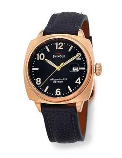Shinola  - Brakeman Stainless Steel & Leather Watch