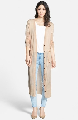 Coin 1804 - Long Cotton Blend Duster Cardigan