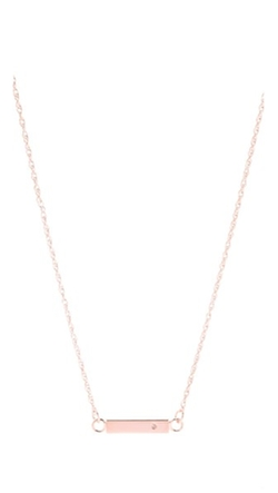 Jennifer Zeuner Jewelry - Chelsea Mini Bar Necklace