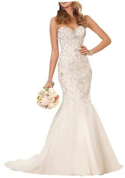 Harshori  - Strapless Sweetheart Neckline Wedding Gown