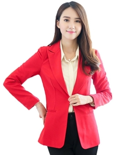 My Wonderful World - One Button Boyfriend Casual Blazer
