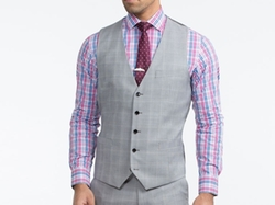 Indo Chino - Glen Plaid Vest