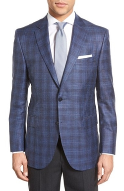 Peter Millar  - Classic Fit Plaid Wool Blend Sport Coat