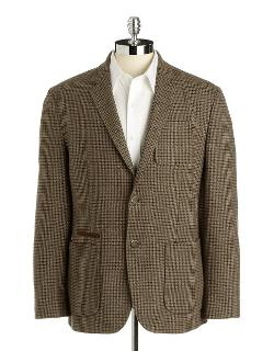 Black Brown - 1826 Checked Sport Coat
