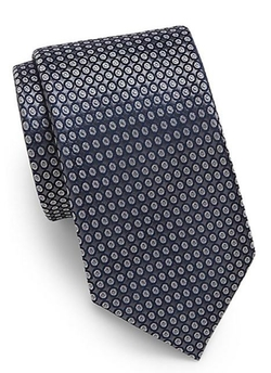 Saks Fifth Avenue  - Circle Dot Silk Tie