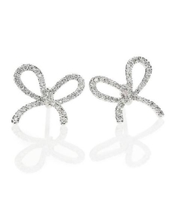 Kwiat  - Elements Diamond & White Gold Bow Stud Earrings