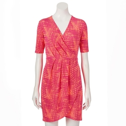 Apt. 9 - Leaf Faux-Wrap Dress