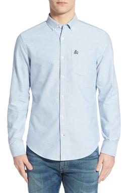 Original Penguin  - Trim Fit Long Sleeve Oxford Woven Shirt