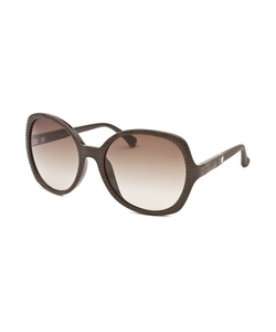 Calvin Klein - Round Dark Brown Sunglasses