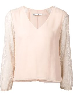 Alice+Olivia - Lace Sleeve Blouse