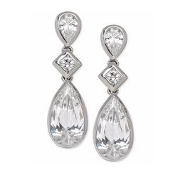 Arabella  - Swarovski Zirconia Triple Drop Earrings