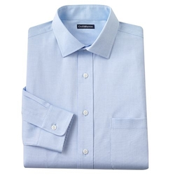 Croft & Barrow - Slim-Fit Solid Point-Collar Dress Shirt