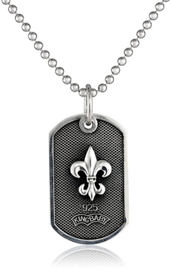 King Baby - Fleur De Lis Dog Tag Necklace