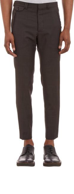Maison Martin Margiela - Sharkskin Cropped Slim Trousers