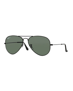 Ray-Ban - Metal Polarized Aviator Sunglasses