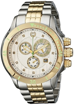 Brillier - Fortress Diamond-Accented Two-Tone Watch