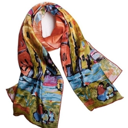 Neal Link by Snap Dragon - Light Silk Long Scarf