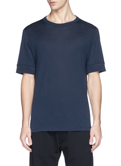 T By Alexander Wang - Silk-Cotton T-Shirt