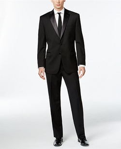 Calvin Klein Black - Two-Button Slim-Fit Tuxedo