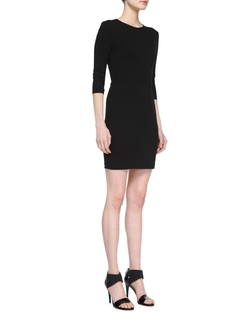 Three Dots - Ponte 3/4-Sleeve Sheath Dress