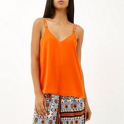River Island - Bright Orange Double Strap Cami