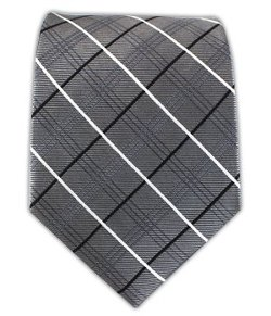 The Tie Bar  - Woven Silk Colonnade Plaid Tie