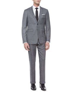Burberry London   - Milbank Sharkskin Wool Two-Piece Suit