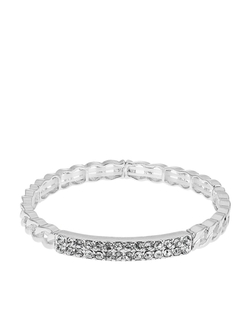 Panacea - Pave Stretch Bangle Bracelet