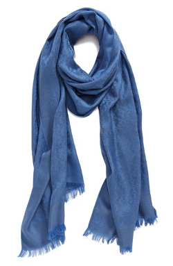 Tory Burch - Logo Jacquard Silk & Cotton Scarf
