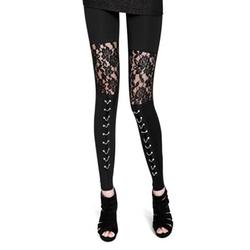 Celebsiam - Punk Pants Lace Up Leggings