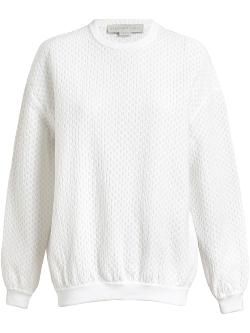 STELLA MCCARTNEY  - Coated Airtex Sweatshirt
