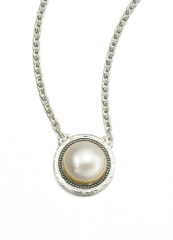 Gurhan - Gauntlet White Mabe Pearl & Sterling Silver Pendant Necklace