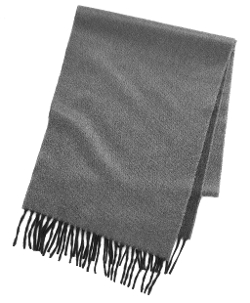 Brook Brothers - Reversible Two-Tone Cashmere Scarf